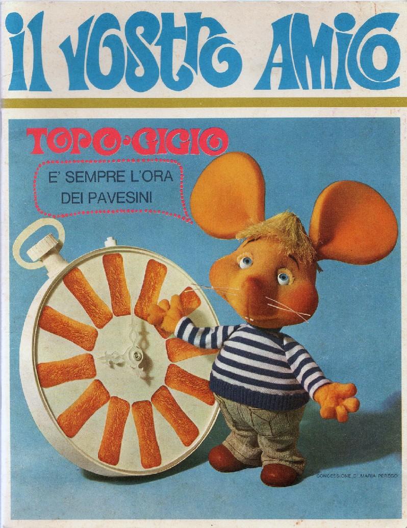 figurina TOPO GIGIO ALBI PER LA GIOVENTU/' 1975 EDIZIONI PEREGO IMPERIA numero 65