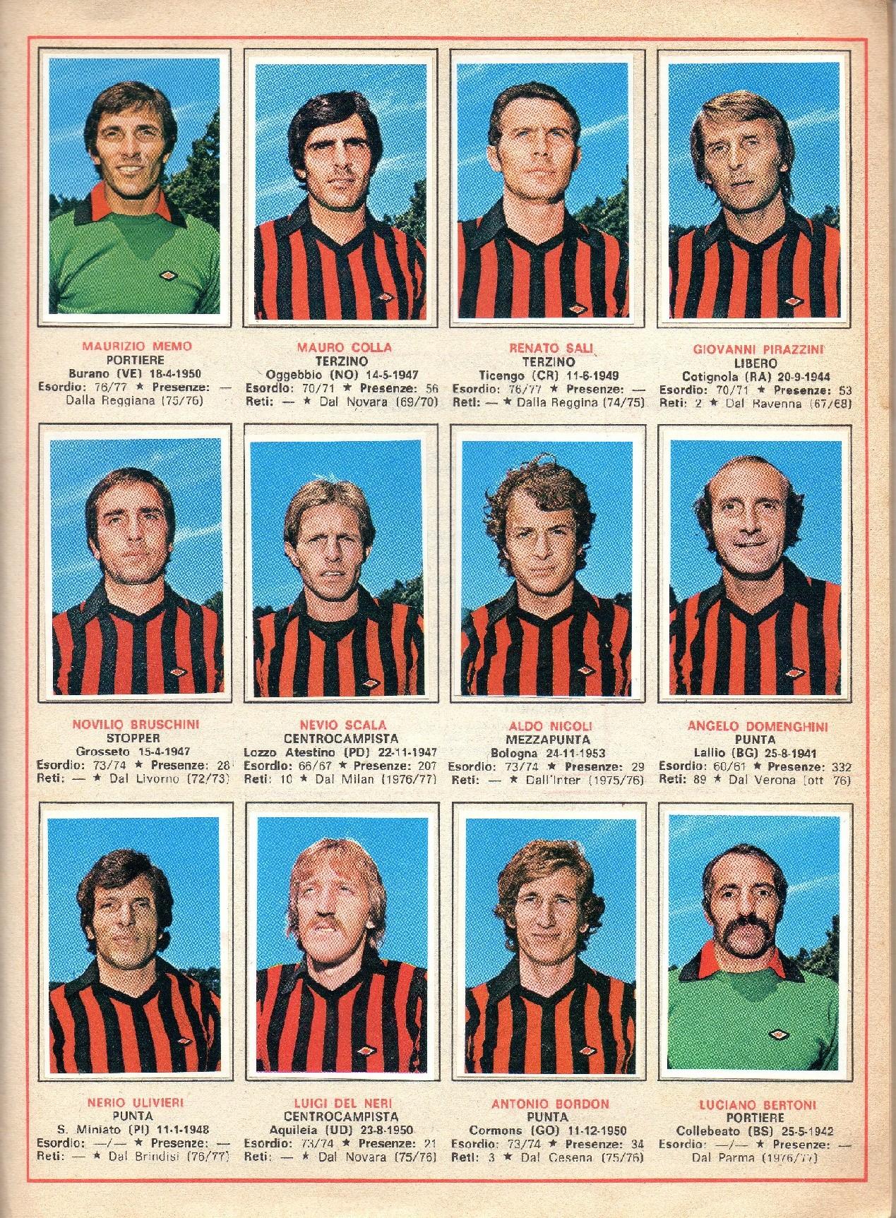N FIGURINA CALCIO LAMPO 1977-78 COLLA 53 new FOGGIA
